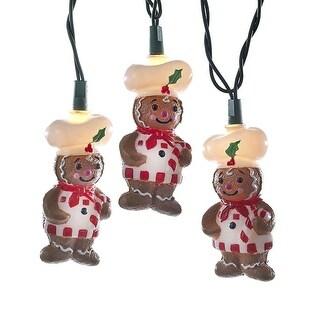 12' Vibrantly Colored Embellished Gingerbread Christmas Light Set