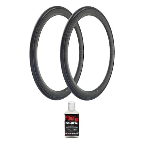 Hutchinson Fusion 5 Tubeless Bike Tire (700x28c, 2-Pack) and Sealant - 700 x 28c