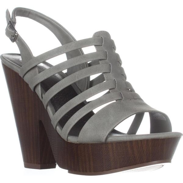 G by GUESS Seany2 Platform Gladiator Sandals, Dark Grey