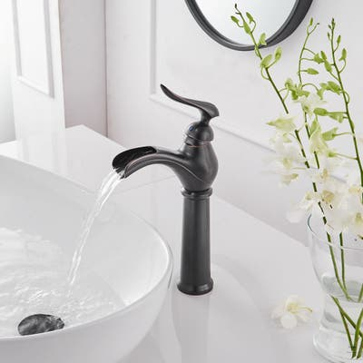 Waterfall Commercial Vessel Sink Bathroom Faucet-Oil Rubbed Bronze
