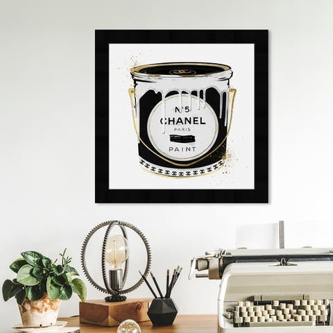 Oliver Gal 'Fashion Paint Noir' Fashion and Glam Framed Wall Art Prints Cans - Black, Gold