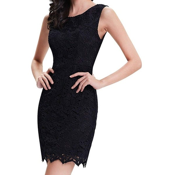 Shop Alisa Pan Black Womens Size 12 Floral Crochet Lace Sheath Dress - Free  Shipping On Orders Over  45 - Overstock.com - 27213159 64b9f0be7e