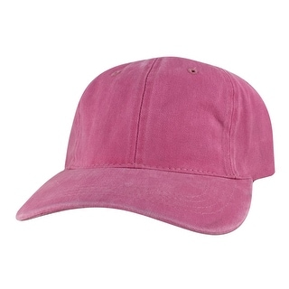 CapRobot Washed Unstructured Low Profile Strapback Hat Dad Cap - Pink