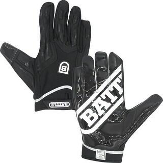 Battle Sports Science Warm Polar Fleece Ultra-Stick Football Gloves -Black/Black
