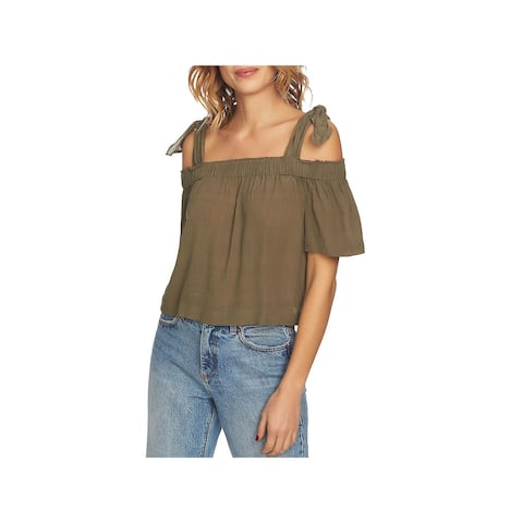 1.State Womens Blouse Gathered Off-The-Shoulder - S