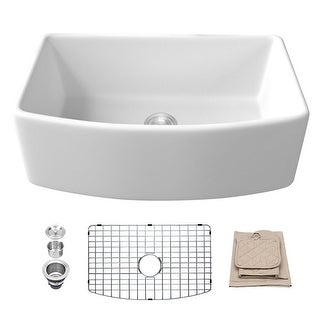 Link to Lordear 30 Inch Fireclay Farmhouse Single Bowl Kitchen Sink Similar Items in Sinks