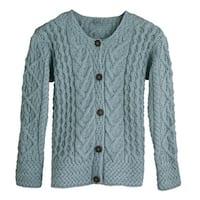 Women's Button Down Sweater - Aileen Aran Cardigan