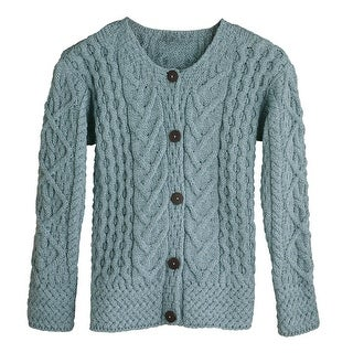 Women's Button Down Sweater - Aileen Aran Cardigan