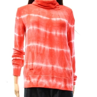 Go Couture NEW Pink Women's Size Medium M Tie Dye Cowl Neck Sweater