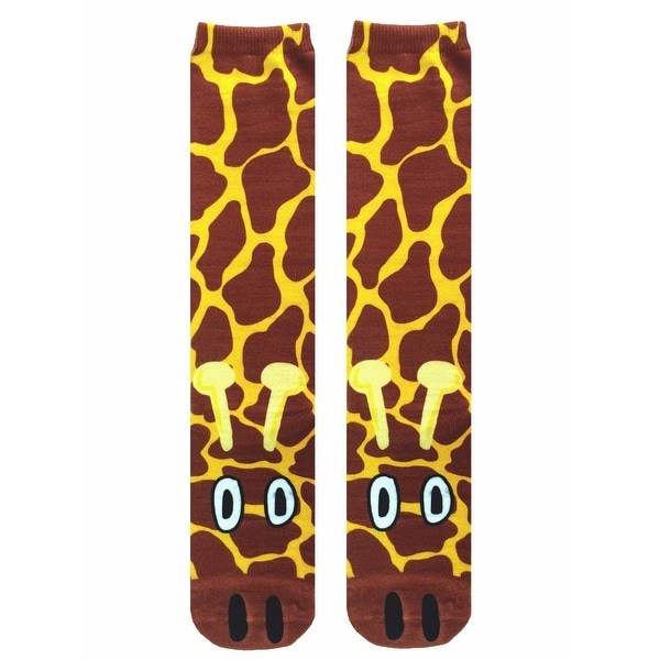 d8207f5530d Shop Giraffe Photo Print Knee High Socks - Free Shipping On Orders Over  45  - Overstock - 13676833