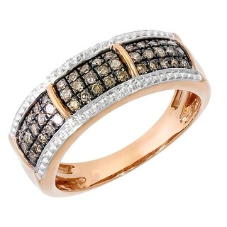 Prism Jewel 0.37Ct Natural Brown Diamond Anniversary Ring