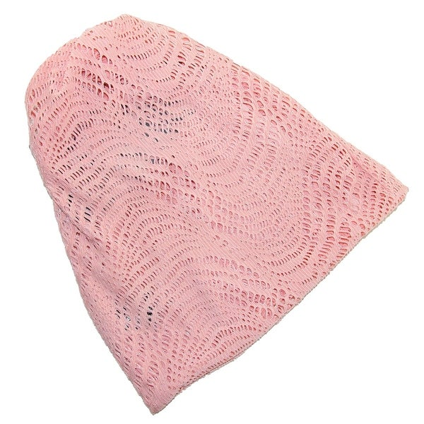 David & Young Women's Open Knit 2 in 1 Beanie Hat and Headwrap