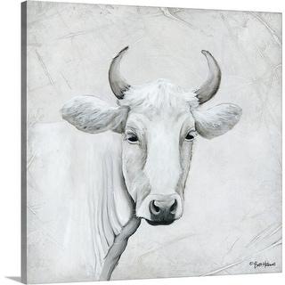 """""""January Cow I"""" Canvas Wall Art"""