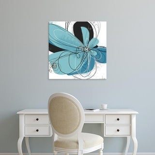 Easy Art Prints Jan Weiss's 'Azul Poetry 2' Premium Canvas Art