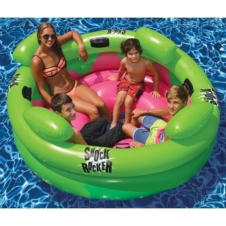 "75"" Water Sports Inflatable Shock Rocker Swimming Pool Float Toy - Green"