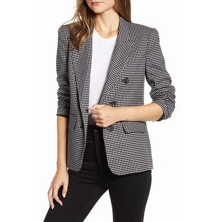 Link to 1. STATE Women's Blazer Black Size Medium M Checkered Double-Breasted Similar Items in Suits & Suit Separates