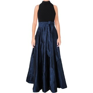 Lauren Ralph Lauren Womens Yuliana Formal Dress Colorblock Wrap