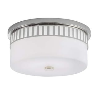 """Norwell Lighting 9653 Astro Single Light 14"""" Wide LED Flush Mount Ceiling Fixture with Shiny Opal Shade"""