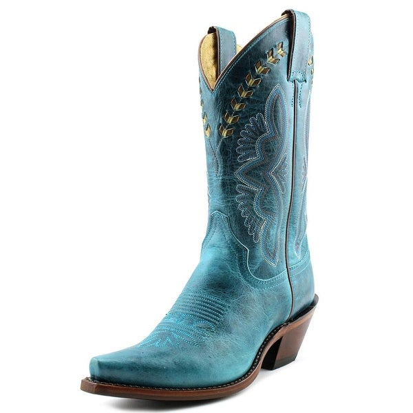 Justin L4302 Women Pointed Toe Leather Western Boot