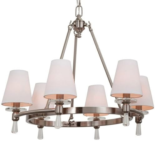"Park Harbor PHHL6016 Southampton 23"" Wide 6 Light Empire Style Chandelier with Tapered Shades"