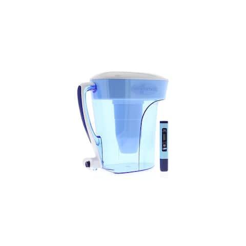 Zero Water ZD010 PitcherIon Exchange 10 Cup Dispenser Pitcher + Filter TDS Meter