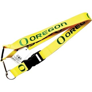 Oregon Ducks Clip Lanyard Keychain Id Holder Ticket Yellow