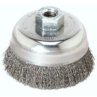 Weiler 36031 Crimped Wire Cup Brush, 3""