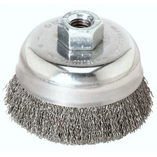 """Weiler 36031 Crimped Wire Cup Brush, 3"""""""