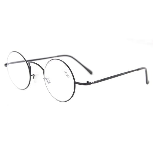 27daca4ce3 Shop Eyekepper Readers Lightweight Round Metal Circle Reading Glasses Black  +1.0 - Free Shipping On Orders Over  45 - Overstock.com - 15914306