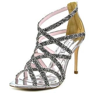 Ted Baker Dyemond Women Open-Toe Synthetic Silver Heels