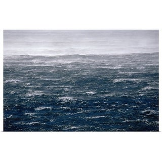 """""""Ocean spray and waves"""" Poster Print"""