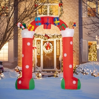 Link to Kinbor 10FT Christmas Inflatable, Archway with Gift Boxes and Bear, Blow up Christmas Yard Decoration, Built-in LED Lights Similar Items in Christmas Decorations