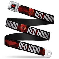 Red Hood Logo Full Color Black Red Hood Face Logo Weathered Black Reds Seatbelt Belt