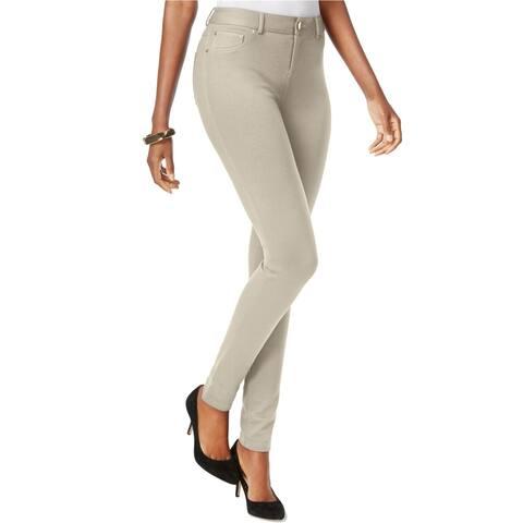 I-N-C Womens Skinny-Leg Ponte Casual Trousers
