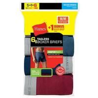 Hanes Men's TAGLESS Boxer Brief with Comfort Flex® Waistband 6-Pack (Includes 1 Free Bonus Boxer Brief) - Size - XL
