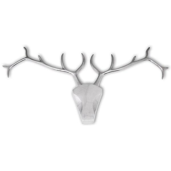 vidaXL Deer Head Decoration Wall-Mounted Aluminum Silver