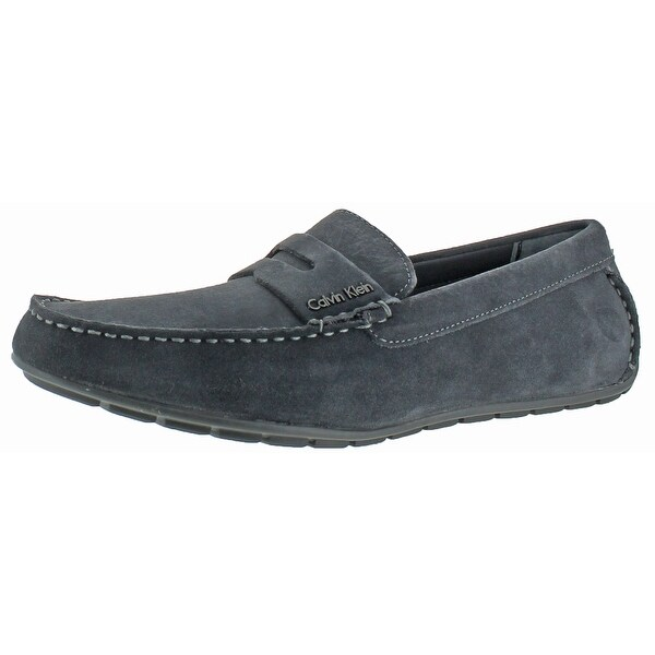 Calvin Klein Men's Ivan Calf Suede Penny Loafer Shoes