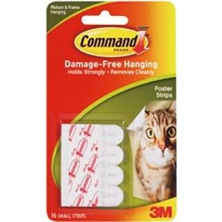 White 16/Pkg - Command Small Poster Strips