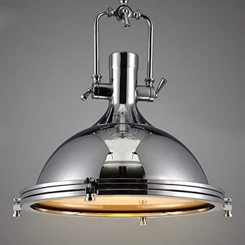 Vintage industrial barn warehouse frosted diffuser pendant light, dome pendant lamp with chrome color