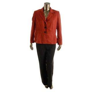 Le Suit Womens Tuscany 2PC Two Tone Pant Suit - 10