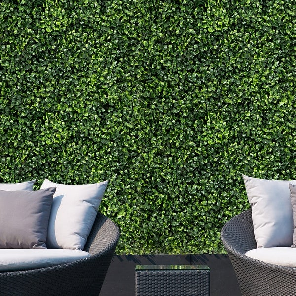 Artificial 12-piece Boxwood Privacy Screen Faux Plant Wall. Opens flyout.