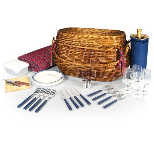 Picnic Time 302-55-401 Highlander Picnic Basket and Blanket