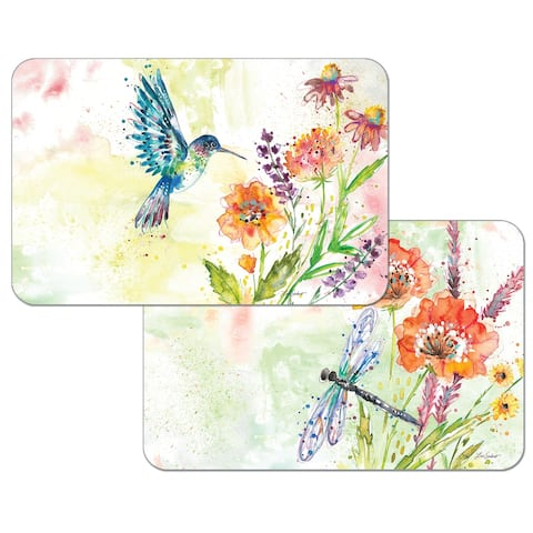 Reversible Wipe-clean Counterart Placemats Set of 4 - Fanciful Flight