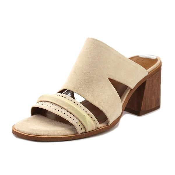 Halston RILEY Women Open Toe Suede Tan Sandals