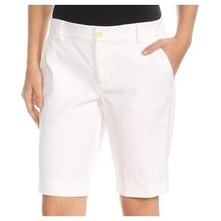 Womens White Bermuda Short Petites Size 2