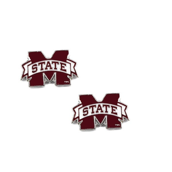Mississippi State Bulldogs Post Stud Earring NCAA Charm Set