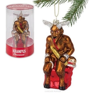 "Krampus 5.5"" Glass Holiday Ornament"