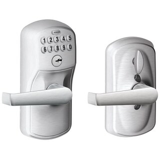 Schlage FE595-PLY-ELA Keypad with Flex Lock Feature Allows you to Choose whether the door Auto-ReLocks (with Key Code) or to