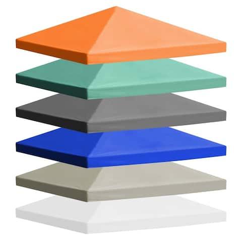 vidaXL Fabric 118-inch Square Gazebo Top Cover