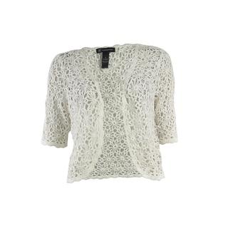 INC International Concepts Women's Embellish Crochet Cardigan